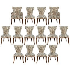 Bunny Williams Attributed Set of 14 Contemporary Dining Chairs