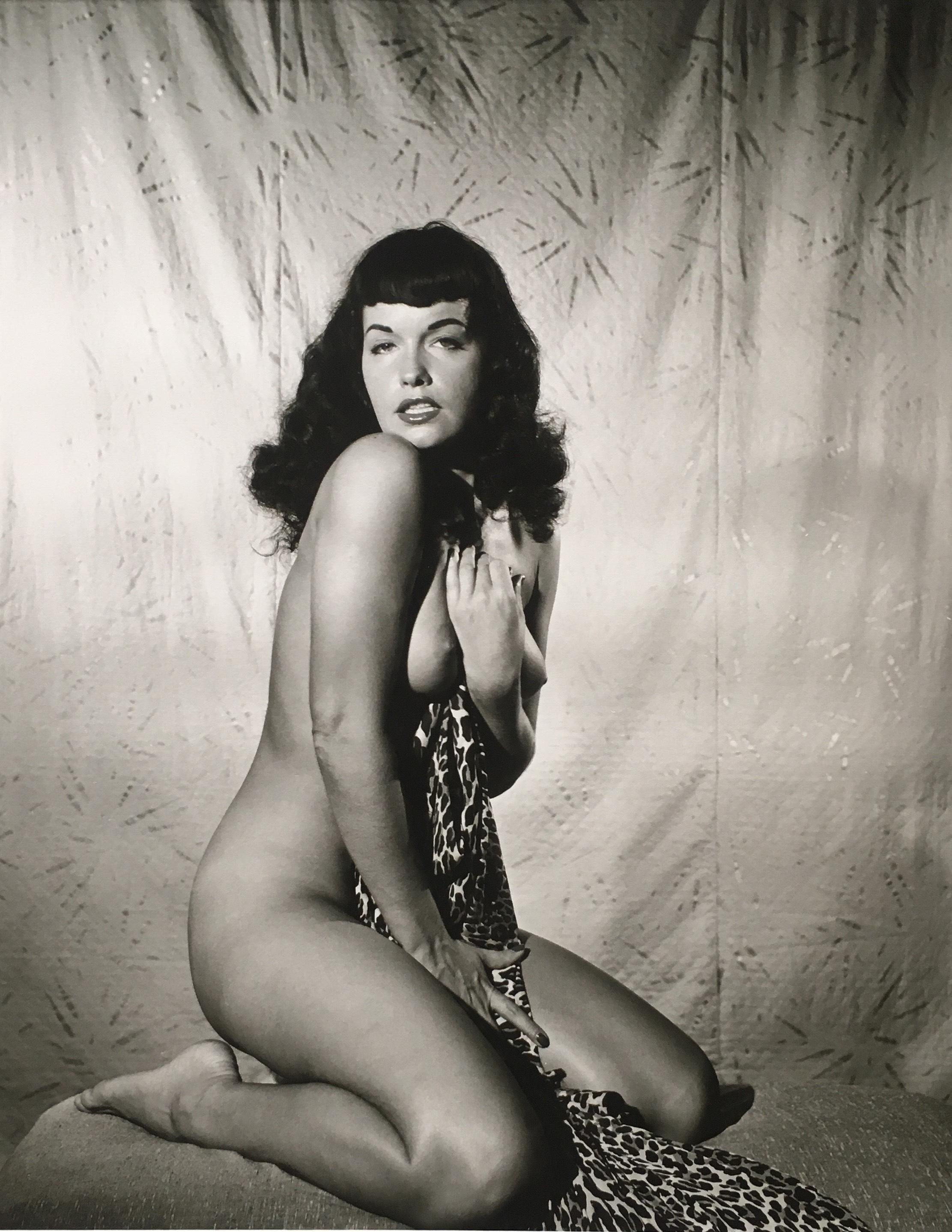 "Bettie Page Hd ""bettie page clutching robe"", 1954"