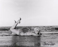 Bunny Lying in Surf in Handmade Bikini - Miami Beach, FL