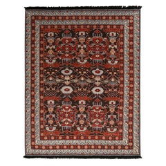 Burano Blue and Burgundy Wool Rug