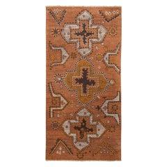 Burano Golden-Orange and Grey Wool Rug