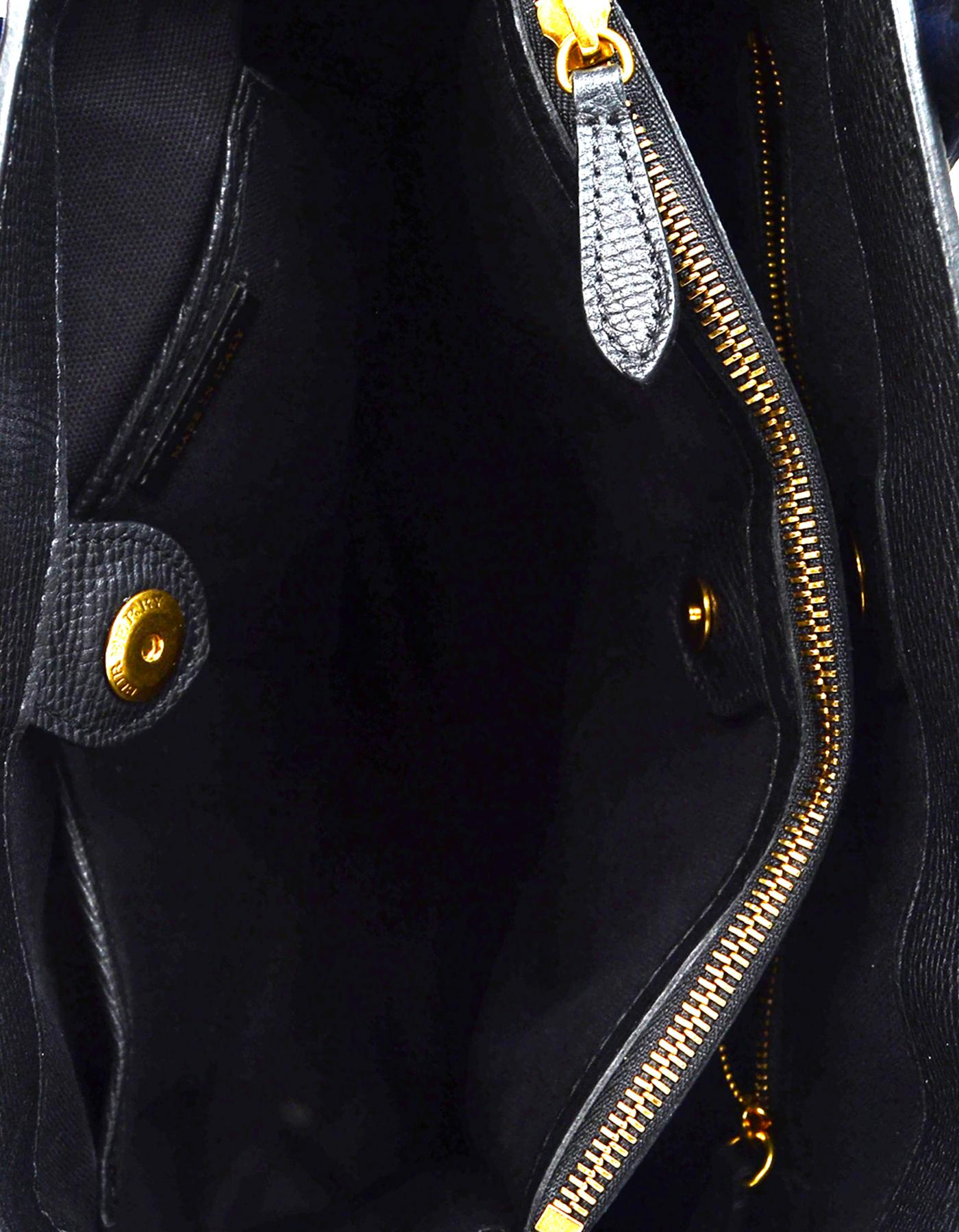c9b0a92914ff Burberry  18 Black Blue Grained Calfskin Leather Graffiti Medium Banner  Tote Bag For Sale at 1stdibs