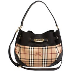 Burberry 3882406 Medium Willenmore Haymarket Check Ladies Hobo Bag