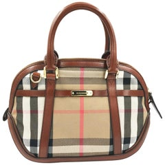 Burberry 3903898 Sartorial House Check Bowling Bag - Black