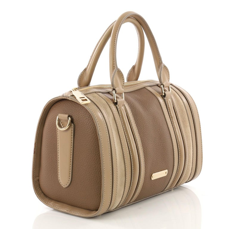 Brown Burberry Alchester Bowling Bag Leather Medium For Sale