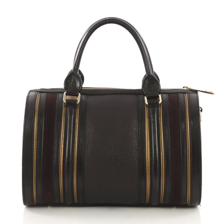 Burberry Alchester Bowling Bag Leather Medium In Good Condition For Sale In New York, NY