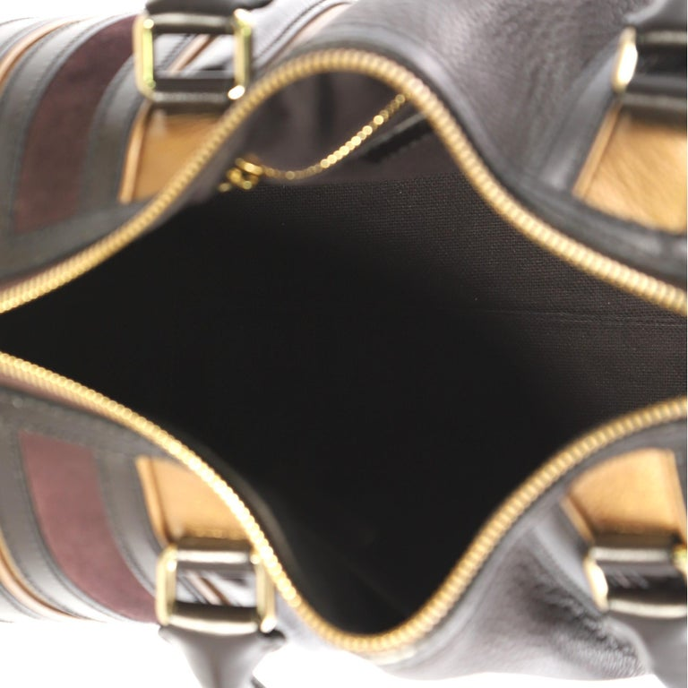 Burberry Alchester Bowling Bag Leather Medium For Sale 2