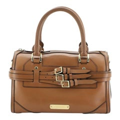 Burberry Alchester Bridle Bowling Bag Leather Medium