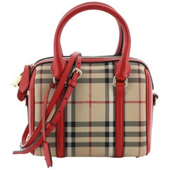 Burberry Alchester Convertible Satchel Horseferry Check Canvas Small