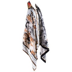 Burberry Animalia Print Scarf Panel Bodysuit XS