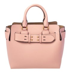 Burberry Ash Pink Leather Belt Tote