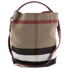 Burberry Ashby Handbag House Check Canvas Medium
