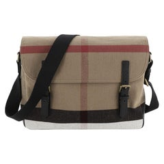 Burberry  Baildon Messenger Bag House Check Canvas Medium