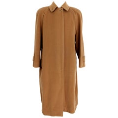 Burberry Beige Cashmere Wool Long Classic Coat