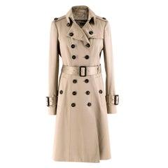 Burberry Beige Cotton Sateen Trench Coat IT 40