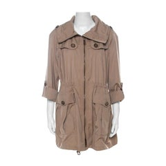 Burberry Beige Detachable Hood Bageford Anorak Jacket M