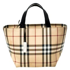 Burberry Beige House Check PVC Mini Tote