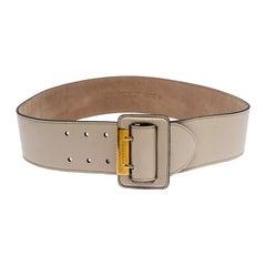 Burberry Beige Leather Ceceil Waist Belt 90CM