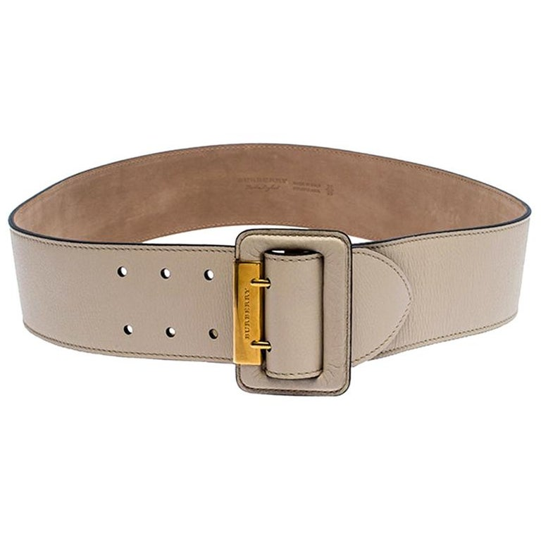 Burberry Beige Leather Cecile Waist Belt 95CM For Sale