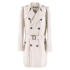 Burberry Beige Mid-length Kensington Trench Coat M