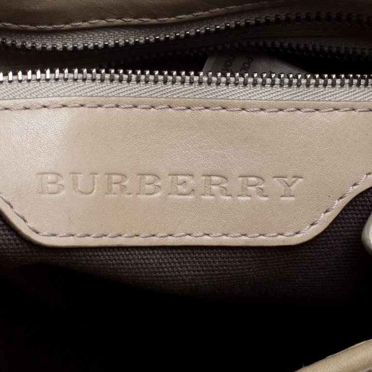 Burberry Beige Smoke Check PVC and Leather Crossbody Bag For Sale 6
