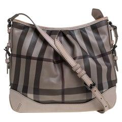 Burberry Beige Smoke Check PVC and Leather Hartham Crossbody Bag
