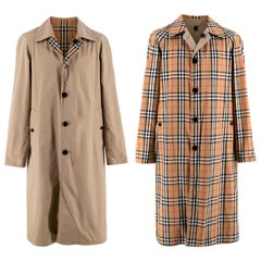 Burberry Beige/Vintage Check Reversible Single Breasted Trench Coat  - EU46