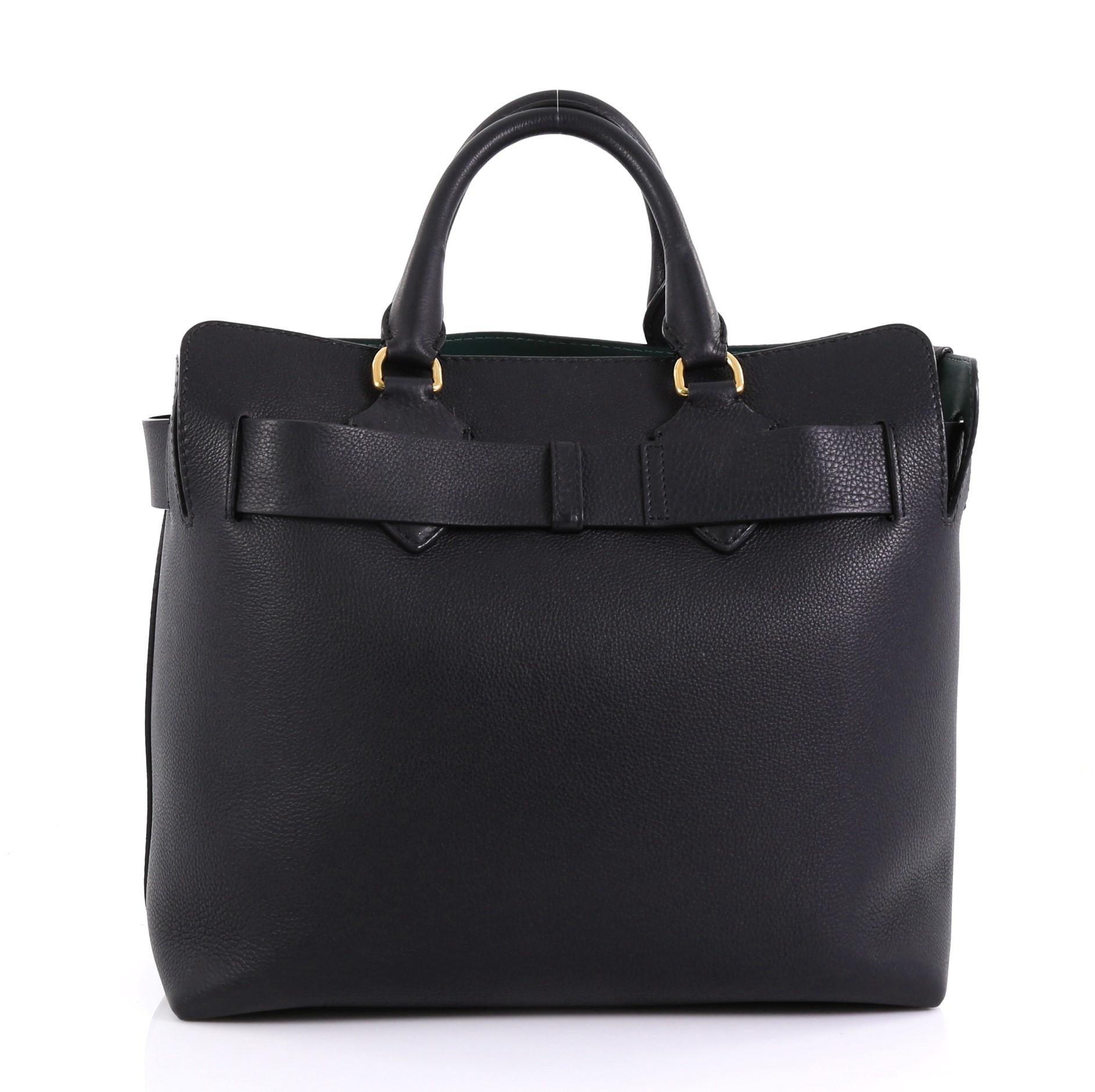 25924e388baf Burberry Belt Tote Leather Medium For Sale at 1stdibs