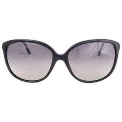 BURBERRY black acetate CAT-EYE Sunglasses Gradient Lens B 4118-Q