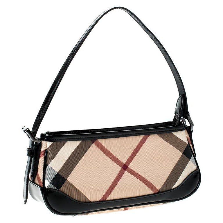 Burberry Black Beige Nova Check Pvc And