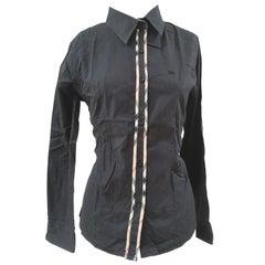 Burberry black cotton shirt