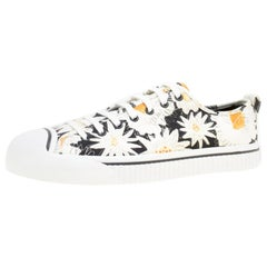 Burberry Black Floral Print Canvas Kingly Low Top Sneakers Size 44