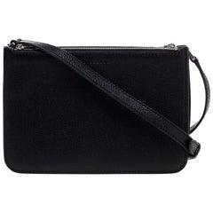 Burberry Black Grained Leather Penhurst Crossbody Bag