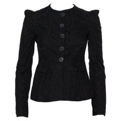 Burberry Black Lace Button Front Tailored Jacket S