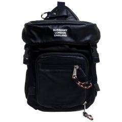 Burberry Black Leather and Nylon Leo Belt Bag