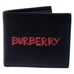 Burberry Black Leather Bifold Wallet