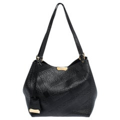Burberry Black Leather Canterbury Tote