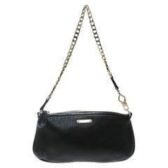 Burberry Black Leather Clara Pochette
