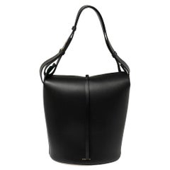Burberry Black Leather Large Bucket Bag