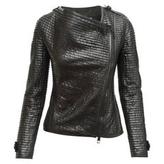 Burberry Black Leather Moto Jacket