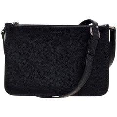 Burberry Black Leather Penhurst Crossbody Bag