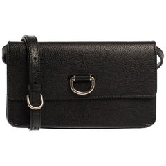 Burberry Black Leather Percy Crossbody Bag