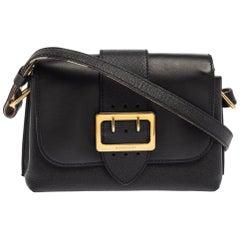 Burberry Black Leather Small Medley Shoulder Bag