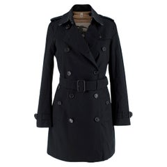 Burberry Black Mid-Length Chelsea Heritage Trench Coat - US size 0-2
