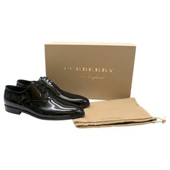 Burberry Black Patent Leather Oxford Shoes 42