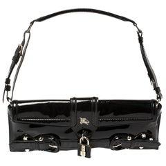Burberry Black Patent Leather Shoulder Bag