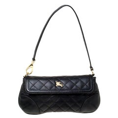 Burberry Black Quilted Leather Pochette
