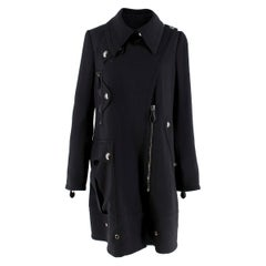 Burberry Black Wool Asymmetric Coat  estimated size XS