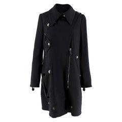 Burberry Black Wool Asymmetric Coat  estimated size XS