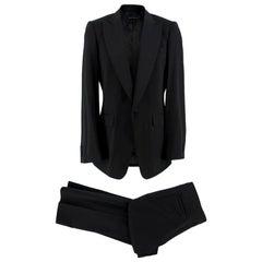 Burberry Black Wool Hand-Tailored Tuxedo Set L 50